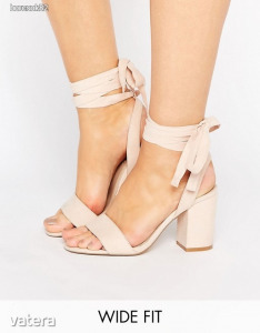 ASOS HOLDING ON Wide Fit Tie Leg Sandals