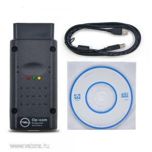 OP-COM OPEL DIAGNOSZTIKA 1987-2014 ig v1.7 OBD2 diagnosztikai USB kábel interfész / olvasó és törlő