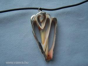 kagyló  medálos szilikon nyaklánc AZONNAL