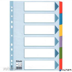 Regiszter, laminált karton, A4, 6 részes, ESSELTE 'Mylar'