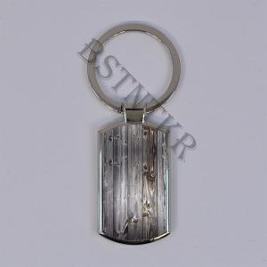fa mintás elegáns fém kulcstartó