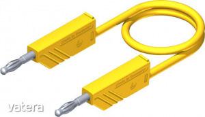 Mérőzsinór, mérővezeték 2db 4mm-es toldható banándugóval 2,5 mm? PVC, 1.50m sárga SKS Hirschmann ...
