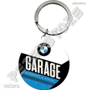 Retró Fém Kulcstartó - BMW Garage, Garázs - 1390 Ft Kép