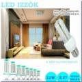 3 db LED izzó 12 W fénycső E27 foglalat hideg/meleg fény-extra fényerő