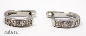 Köves ezüst fülbevaló (ZAL-Ag 82671)
