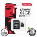 KINGSTON 64GB micro SDXC+SD ADAPTER CLASS 10 UHS-I 1 80MB/s