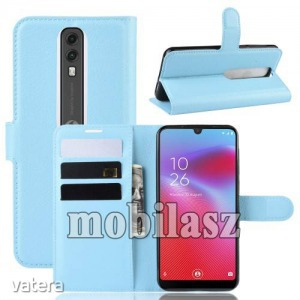 Vodafone Smart V10, WALLET notesz mobiltok, Világoskék