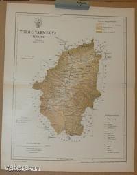 Turóc vármegye térképe. Budapest. 1894. Gönczy Pál - 900 Ft - (meghosszabbítva: 2894312237) Kép