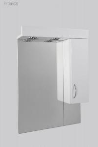 Standard 55SZ fürdőszobai tükör polcos kis szekrénnyel és 2db szpottal