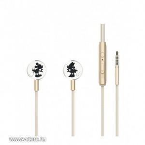 Disney sztereo headset - Mickey és Minnie 3,5mm jack arany