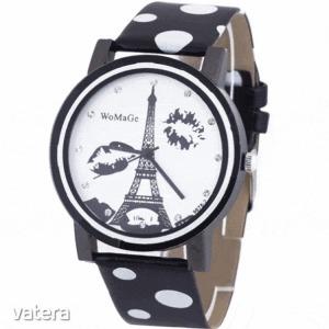 Womage - Pöttyös karóra - Eiffel torony - fekete