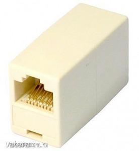 RJ45 UTP Ethernet csatlakozó toldó adapter (anya-anya)