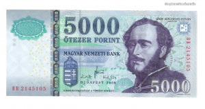 2008 5000 forint BB UNC