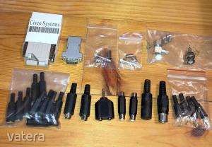 Csatlakozó RCA jack BNC D-SUB DIN táp dugó aljzat átalakító - együtt
