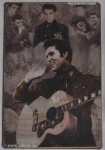 Elvis Presley gitárral fém tábla 20 x 30 cm