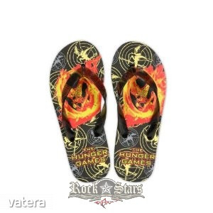 Az éhezők viadala - The Hunger Games. Movie Flip Flops . Mockingjay. papucs