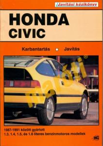 Honda Javítási kézikönyv, honda civic (1987-1991 benzin)