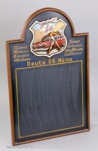 204MS1341 Route 66 Menütábla