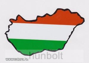 Nemzeti színű Magyarország külső matrica (14X8 cm)