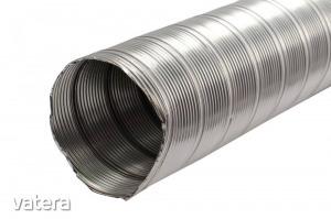 Rozsdamentes acél rugalmas füstcső, 130 mm