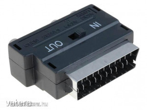 Adapter : SCART SVHS (S-Video) + RCA átalakító