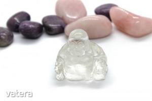 Hegyikristály ásvány buddha (közepes