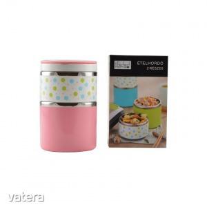 Perfect Home 13881 Ételhordó virágos 2 részes rózsaszín