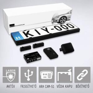 KIYO D Ultimate AP 2 rendszámtábla keretes aktív lézeres jelzőkészülék 2 szenzorral, GPS adatbázi...