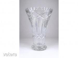 0Y010 Nagyméretű kristály váza 21 cm