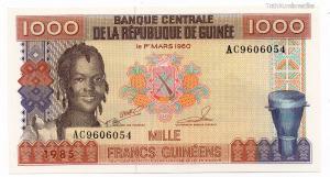 Guinea 1000 Frank Bankjegy 1985 P32a