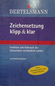 Renate Baudusch: Zeichensetzung klipp & klar