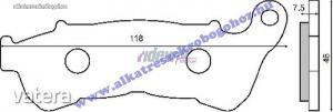 Fékbetét SUZUKI BURGAMAN 125-200 / HONDA JAZZ 250 / SH 300ccm RMS 2540