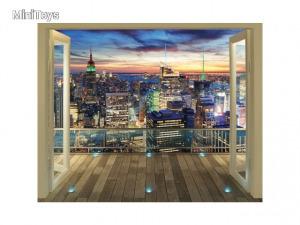 New York City Skyline fali tapéta - Walltastic - Többféle