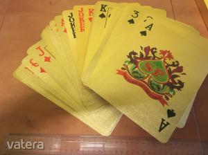 ÓRIÁSI csillogó poker franciakártya erős műanyagból, szép állapotban Élőben elképesztő!
