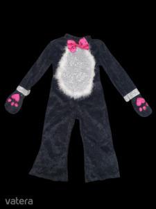 3-5 évesre fekete-pink plüss kezeslábas cica jelmez - TU
