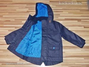 M&S vastag, selyembéléses pvc kabát 100% víz és szélálló 92 cm
