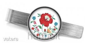 Kalocsai virágfüzér nyakkendőcsipesz