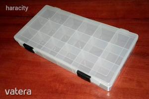 Tárolódoboz - 18 rekeszes műanyag tároló doboz - 20cm