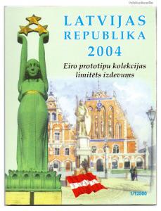 Lettország Euro Forgalmi sor 2004 Próba tervezet