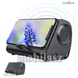 BLUEDIO MS hordozható bluetooth hangszóró / telefon tartó állvány / soundbar - 3W, indukciós ninc...