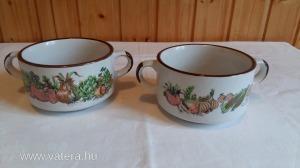 Gyönyörü kézel festet kerámia leveses csésze garni