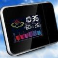 Kivetítős óra, időjárás állomás
