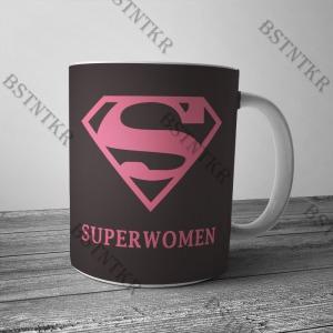Superwomen mintás bögre Valentin napra Valentin nap