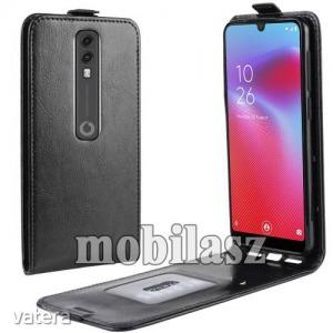 Vodafone Smart V10, Slim flip tok, Lefelé nyíló, Rejtett mágneses záródás, Fekete