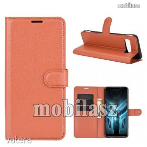 ASUS ROG Phone 3 (ZS661KS)/ ROG Phone 3 Strix, WALLET notesz mobiltok, Barna