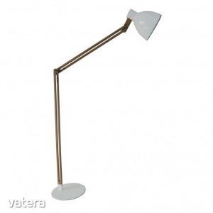 CINDA TYP 19 álló lámpa,  alumínium fehér / fa