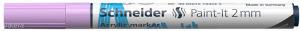 Akril marker, 2 mm, SCHNEIDER 'Paint-It 310', pasztell-lila