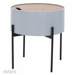 MOSAI asztalka, szürke/natúr fa/fekete
