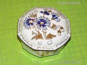 ZSOLNAY 9142/059 bonbonier - kék búzavirágos