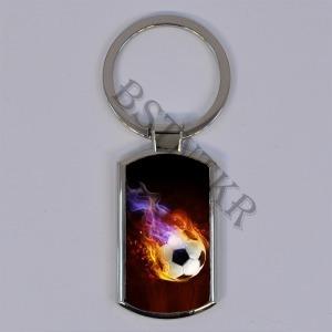 focis mintás elegáns fém kulcstartó